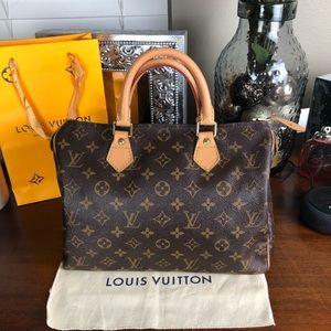 Louis Vuitton speedy 30 handbag satchel